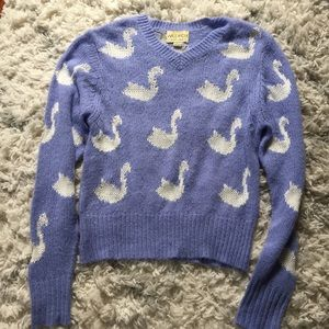 Wildfox Periwinkle Swan Sweater